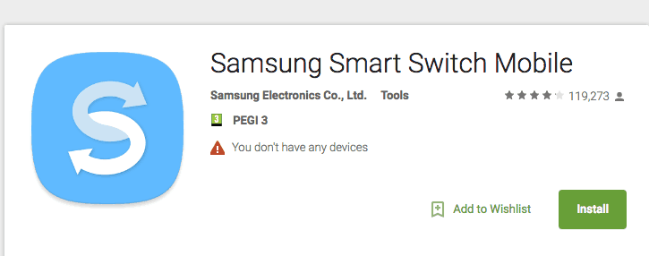 Backing up Your Samsung Using Smart Switch