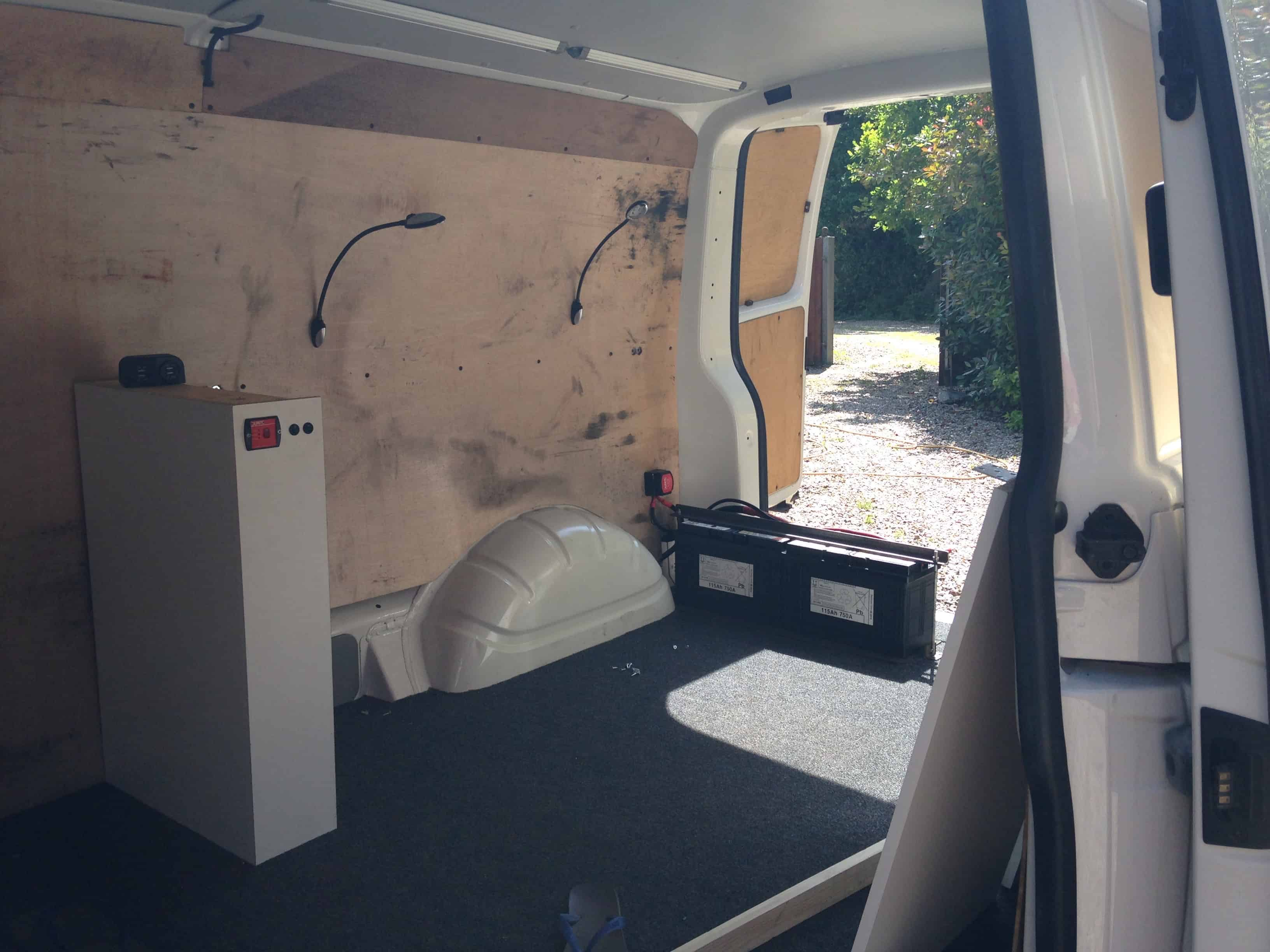 Adding carpet to a van