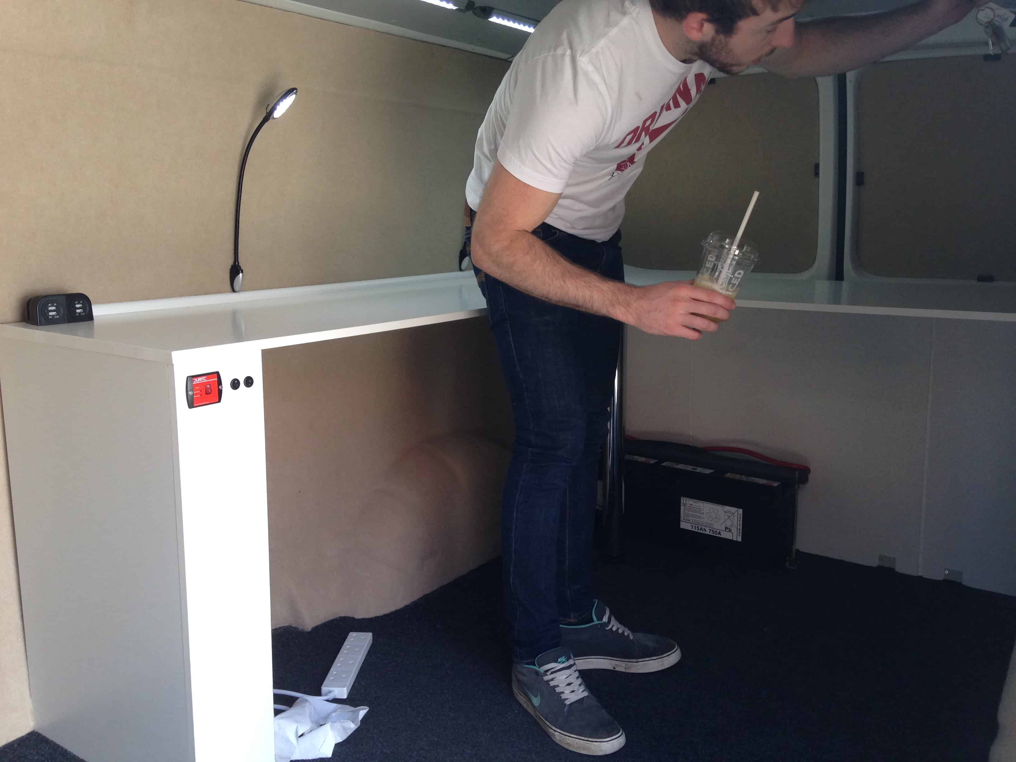 Adding a desk to the van