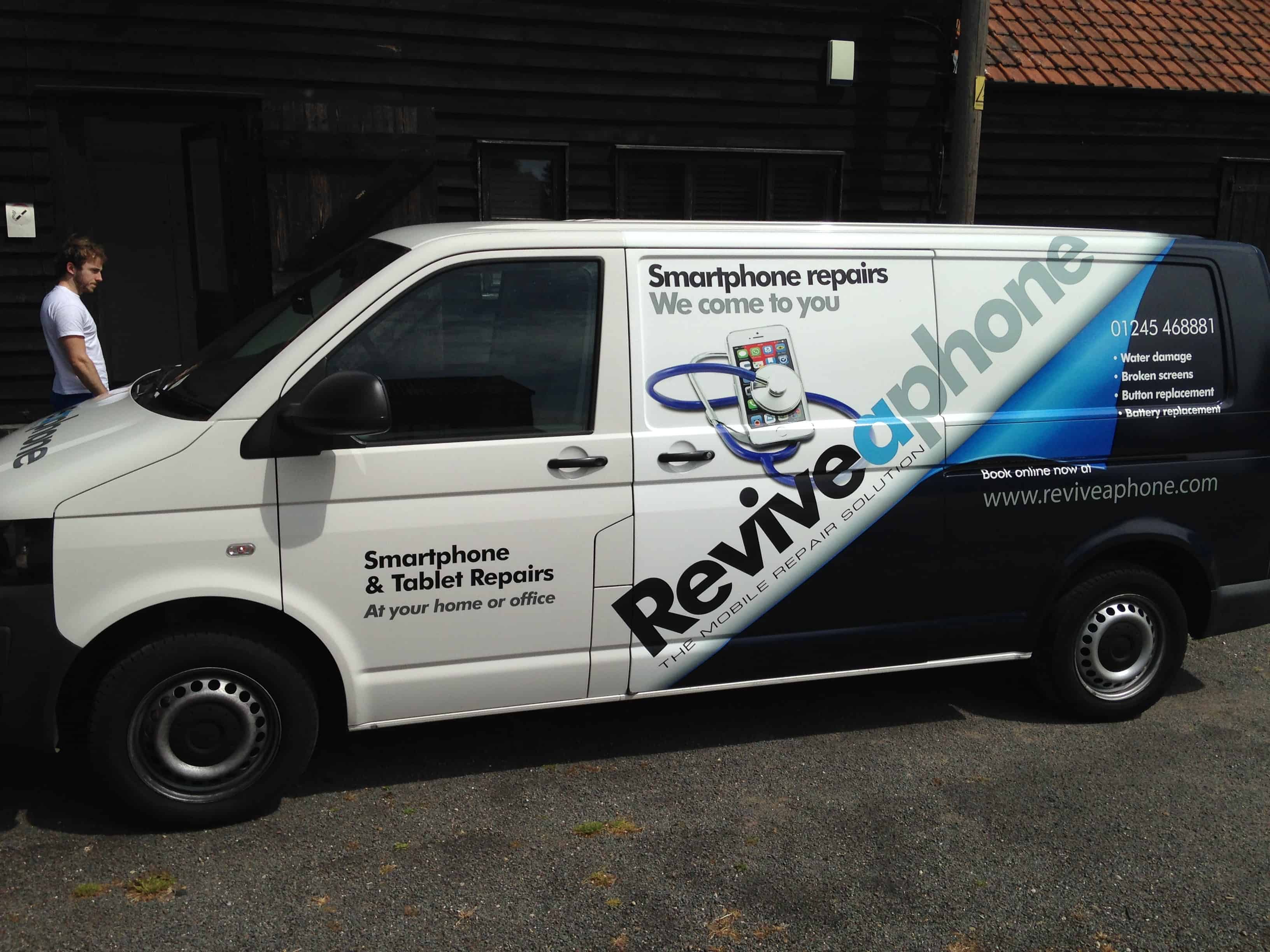New Reviveaphone Wrap on van