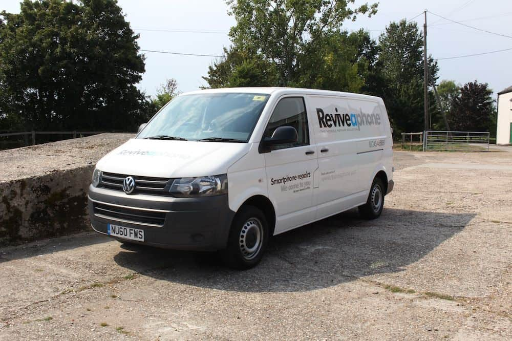The first VW Reviveaphone van fully sign written