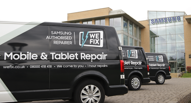 WeFix team on the ball as they repair Newcastle United players' phones