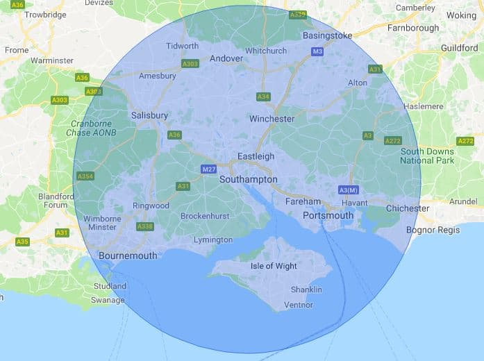 Southampton mobile phone repair map