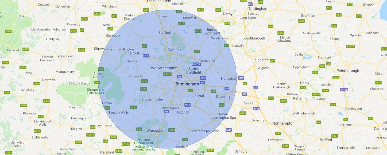 Wolverhampton Mobile Phone Repair Service Map