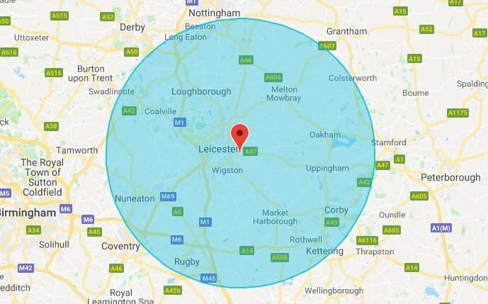 Leicester Mobile Phone Repair Map